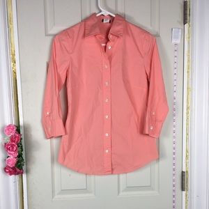 J.Crew Shirt button Down Cotton Pink XS